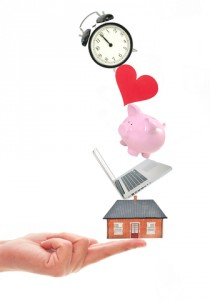 http://www.dreamstime.com/stock-photography-work-life-balance-many-home-related-items-balanced-finger-image34650212